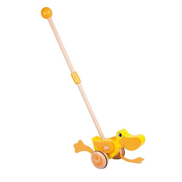 Дървена играчка за бутане - Пате